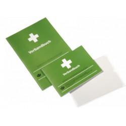 Selbstklebende Folientasche für Verbandbuch in DIN A5