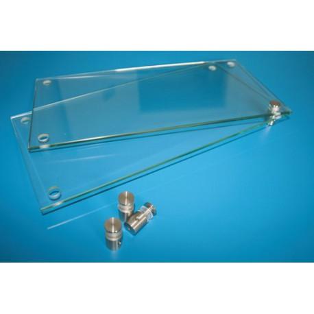 Glaskomponente (2 Glasscheiben ESG) für Wechselrahmen Fluchtwegeplan