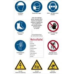 Baustellensicherheitsschild  gem. §3 Baustellenverordnung