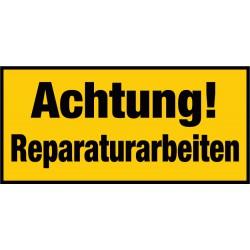 Achtung! Reparaturarbeiten