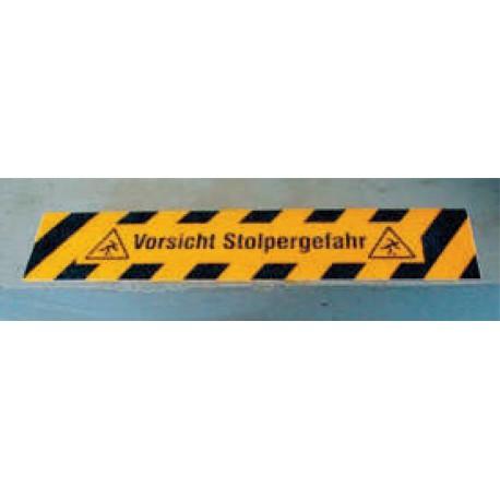 Antirutsch-Bodenmarkierung - Vorsicht Stolpergefahr