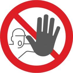 Bodenmarkierung, Symbol Zutritt Verboten