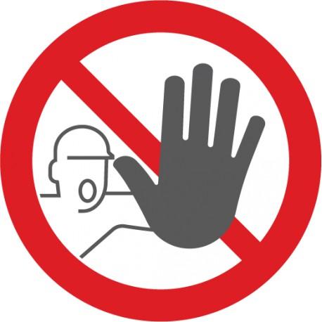 bodenmarkierung symbol zutritt verboten