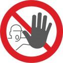 Bodenmarkierung Symbol Zutritt für unbefugte Verboten