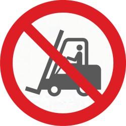Bodenmarkierung, Symbol Verbote für Flurförderfahrzeuge