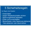 5 Sicherheitsregeln vor Beginn der Arbeiten (H003)