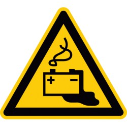 Warnung vor Gefahren durch das Aufladen von Batterien (W026)