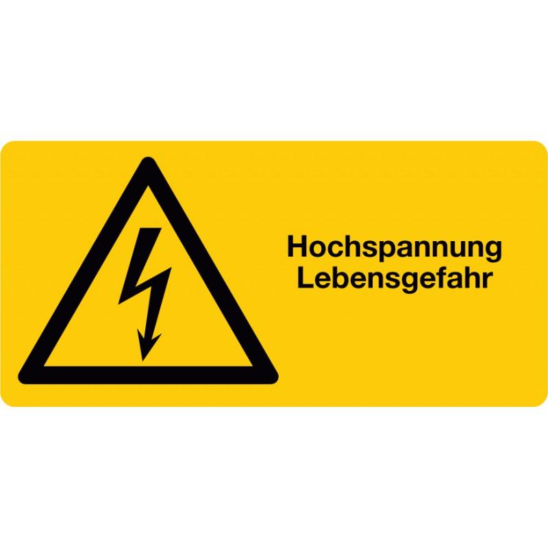Hochspannung Lebensgefahr ,Warnung vor elektrischer Spannung, Querf.