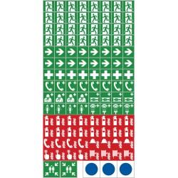 Mini- Symbole für Fluchtweg- und Rettungspläne