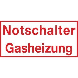 Notschalter Gasheizung