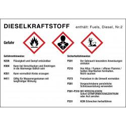 Dieselkraftstoff, Gefahren- und Sicherheitshinweise