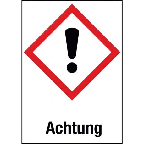 Achtung, Akute Toxizität, Reizung der Haut, Augenreizung (GHS 07)