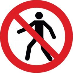 Etikett Für Fußgänger verboten (P004)