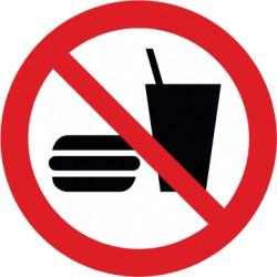 Etikett Trinken und Essen verboten (P022)