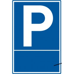 Parkplatz mit optionalem individuellem Text