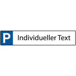 Parkplatz, KFZ-Kennzeichen mit individuellem Text