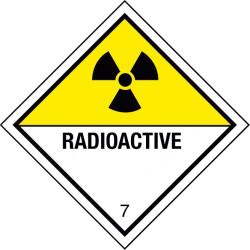 Gefahrzettel für radioaktive Stoffe der Klasse 7 (7D)