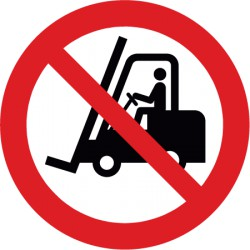 Für Flurförderfahrzeuge verboten (P006)