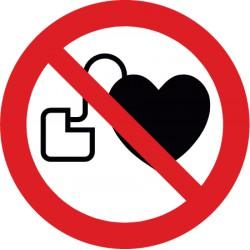 Kein Zutritt für Personen mit Herzschrittmachern oder implantierten Defibrillatoren (P007)