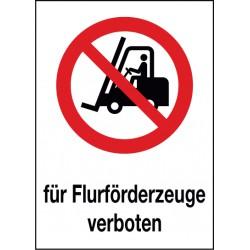 Kombischild Für Flurförderzeuge verboten (P006)