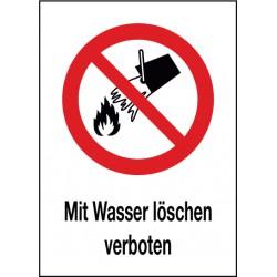 Kombischild Mit Wasser löschen verboten (P011)