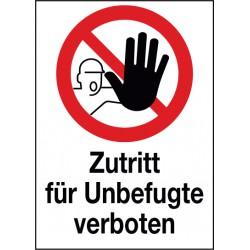 Kombischild Zutritt für Unbefugte verboten (D-P006)