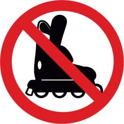 Inlineskaten verboten