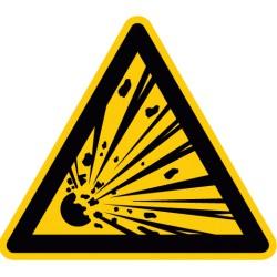 Warnung vor explosionsgefährlichen Stoffen (W002)