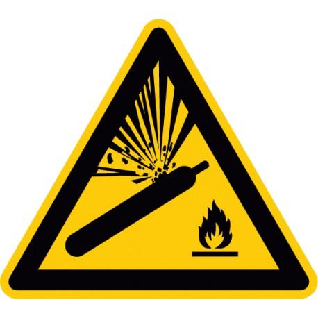 W029 Warnzeichenaufkleber Warnung Vor Gasflaschen Business & Industrie
