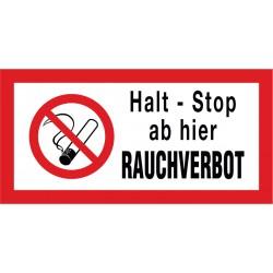 Halt - Stop, ab hier Rauchverbot