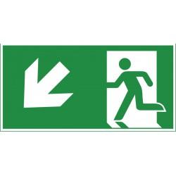 Rettungsweg abwärts links