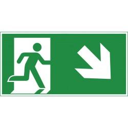 Rettungsweg abwärts rechts