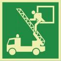 Rettungsausstieg (E017) nachleuchtend