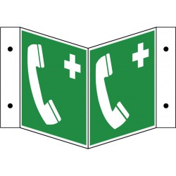 Winkelschild Notruftelefon (E004)