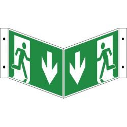 Winkelschild Notausgang (E001+E002)