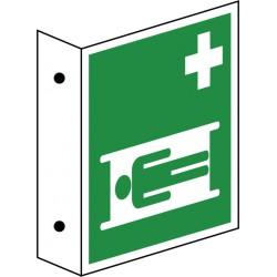 Fahnenschild Krankentrage (E013)