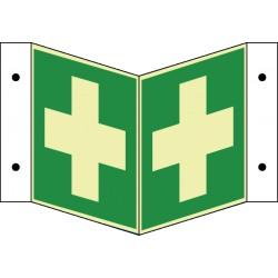 Winkelschild Erste-Hilfe (E03)