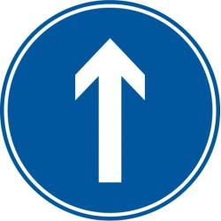 Vorgeschriebene Fahrtrichtung geradeaus