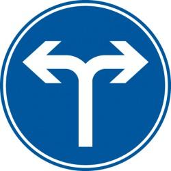 Vorgeschriebene Fahrtrichtung rechts und links