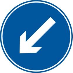 Vorgeschriebene Vorbeifahrt links vorbei