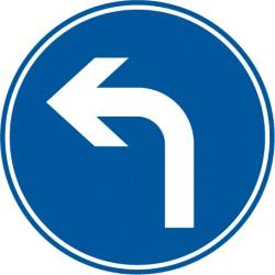 Vorgeschriebene Fahrtrichtung links