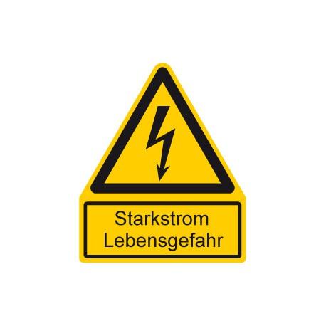 Starkstrom Lebensgefahr ,Warnung vor elektrischer Spannung