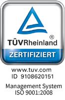 TÜV - Rheinland zertifiziert