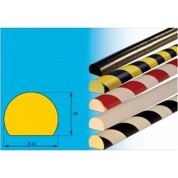 Profil C - Flächenschutzprofil für glatte Flächen und Wände