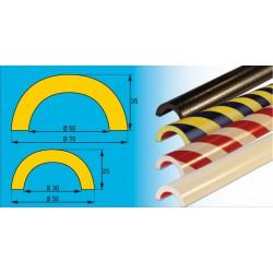 Profil F- Prallschutz für Rohre im Innen- und Außenbereich, 30 mm Innendurchmesser