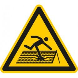 Warnung vor nicht durchtrittsicherem Dach (W036)