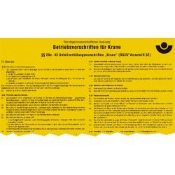 Betriebsvorschriften für Krane (BGV D6)
