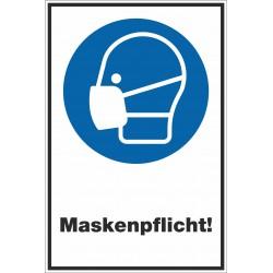 Kombischild Maskenpflicht