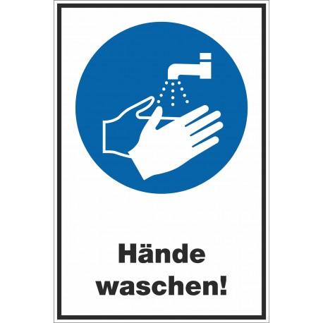 Kombischild Hände waschen