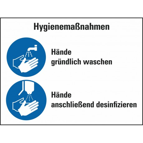 Kombischild Hygienemaßnahmen